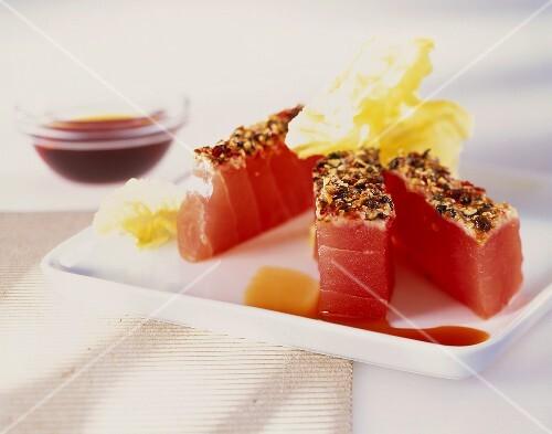 Seared tuna fillets
