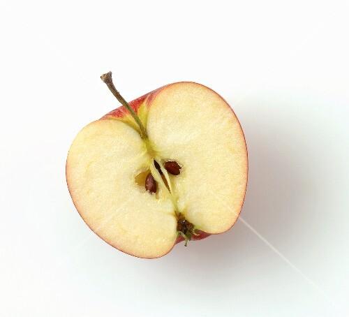 Half an apple, seen from above