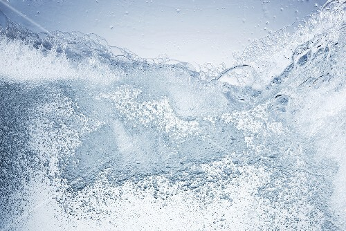 Water with washing up liquid foam