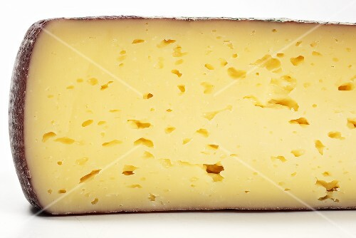 A piece of Lagrein cheese