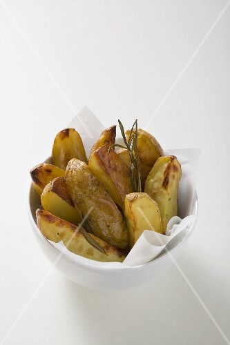 Potatoes with rosemary in a small bowl