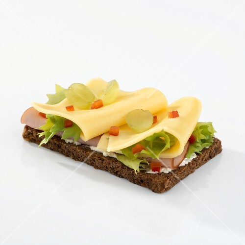 Ham and cheese on whole-grain bread