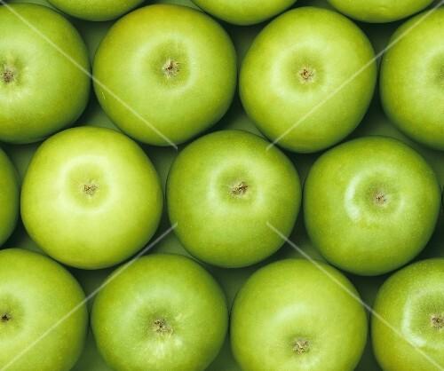 Green apples, full-frame