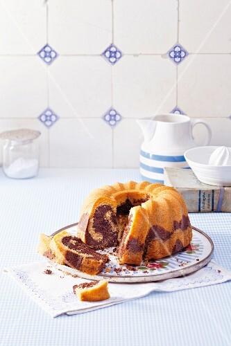 Marble Bundt cake (lactose free)