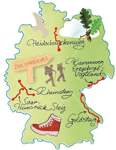 Land Karte Deutschland.Landkarte Deutschland Karte Wanderwege Buy Images