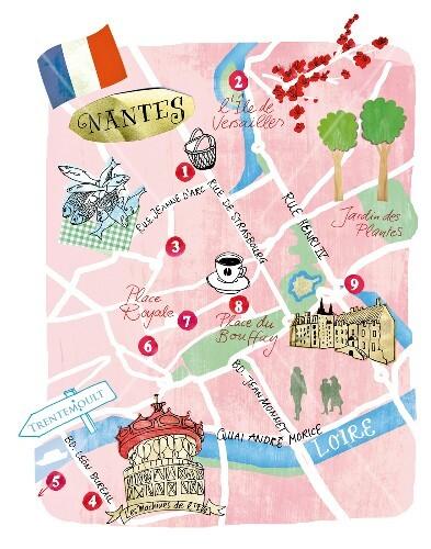 Nantes Karte.Stadtplan Nantes Karte Plan Buy Images 10318285 Seasons Agency
