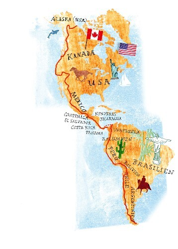 Karte Nordamerikas.Karte Nordamerika Südamerika Buy Images 10320157 Seasons Agency