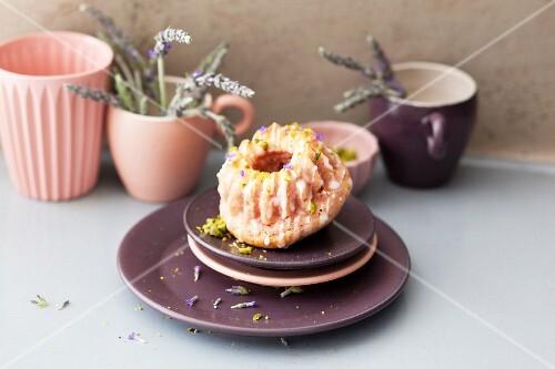 Mini raspberry and lavender Bundt cakes