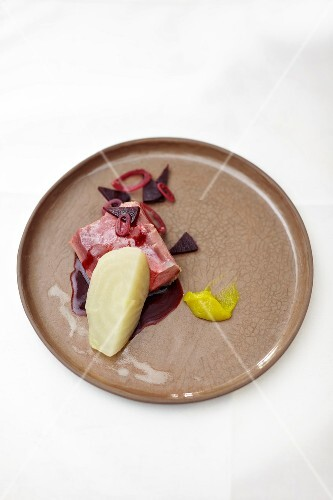 Muscovy duck with turnip