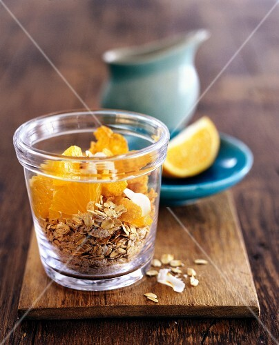 Orange and cinnamon muesli