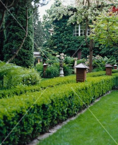 Gartenweg Haus Asiatischer Garten Pflanzen Buchsbaume Kleine