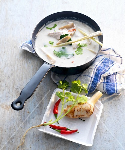 Coconut soup with chicken, lemongrass, chilli and galgant