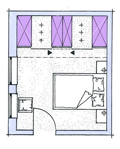 Schlafzimmer Dachschrage Stauraum In Schrank Grundriss