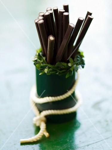 Chocolate mint sticks