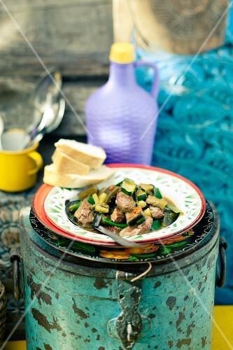 Lamb ragout with aubergines