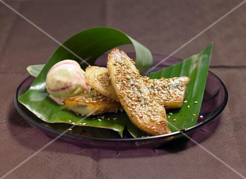 Sesame banana (Asia)