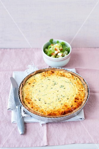 A cheese flan with Gruyere (Switzerland)