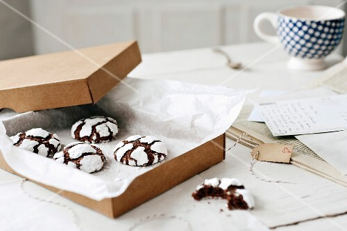 Homemade black and white cookies as a gift