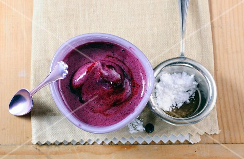 Blueberry sabayon