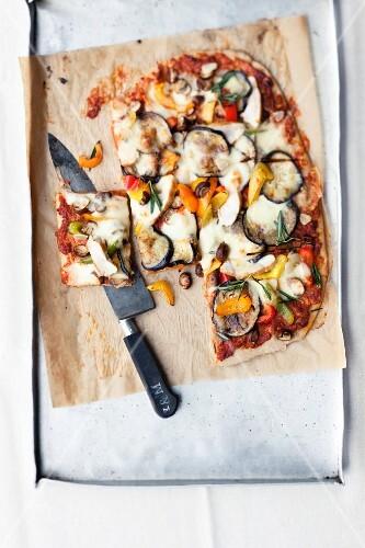 An antipasti pizza