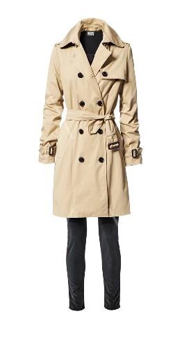 Trenchcoat, beige, beiger, Skinny Jeans, schwarz, schwarze