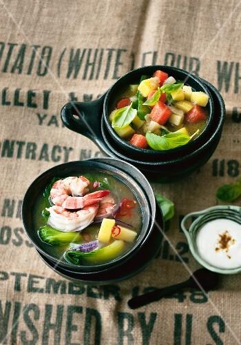 Potato curry and Vietnamese potato soup
