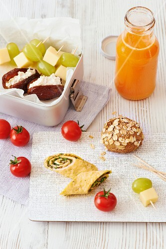 A smoothie and healthy snacks for pregnancy and breastfeeding mothers