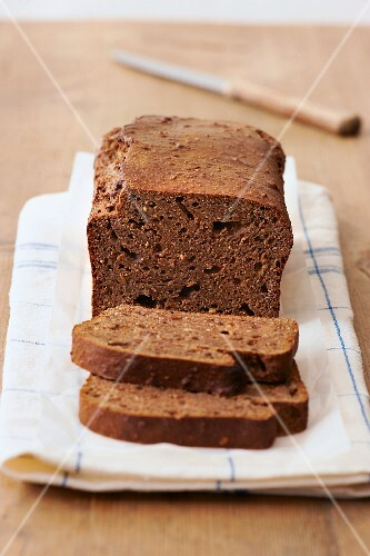 Homemade chestnut bread with nuts