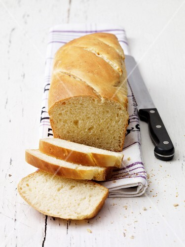 A loaf of sliced buttermilk bread