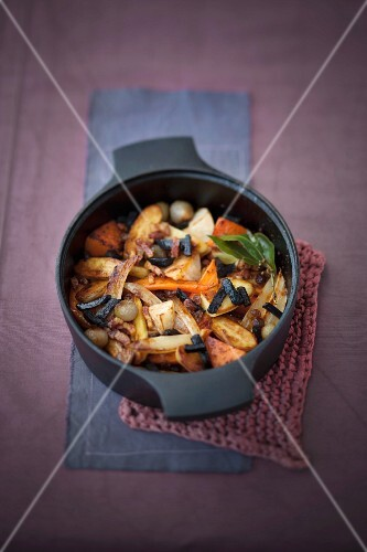 Braised vegetables with truffles