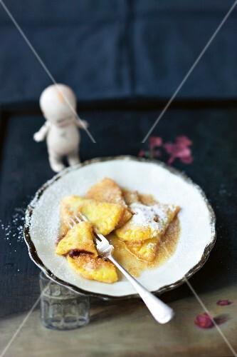 Powidltaschen (stuffed potato pastries, Austria)