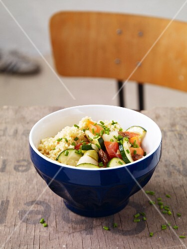 Fried vegetables with couscous