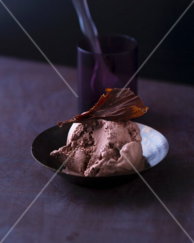 Home-made chocolate ice cream