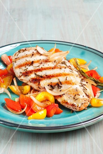 Rosemary chicken with peperonata