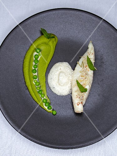 John Dory fried in mint oil (Restaurant Le Rosiers, Biarritz, France)