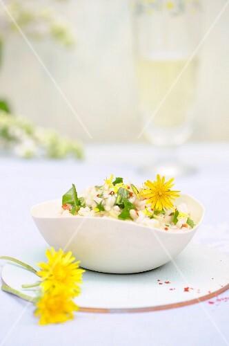 Dandelion risotto