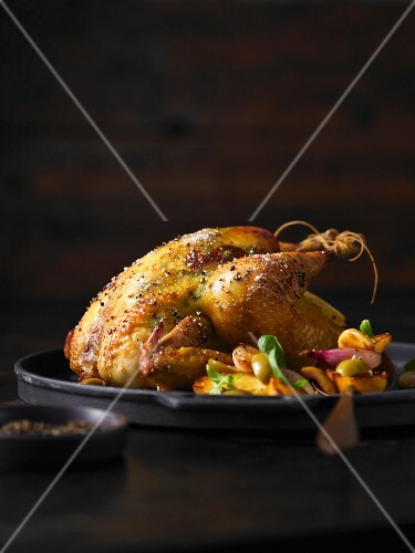 Tarragon corn-fed chicken with lemon potatoes