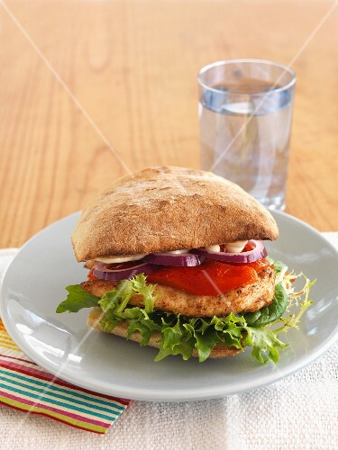 A cajun chicken burger