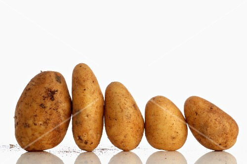 Five potatoes in a row