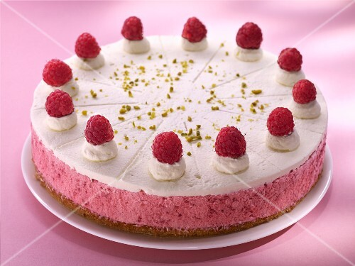 A raspberry cream cake