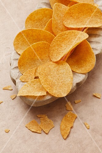 Spiced potato chips