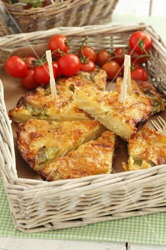 Frittata di patate (Italain potato tortilla)