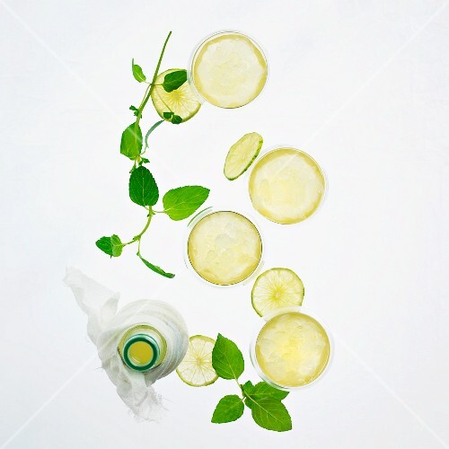 Salad dressing with lime and mint