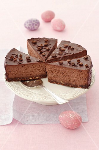 Chocolate and coffee cheesecake for Easter