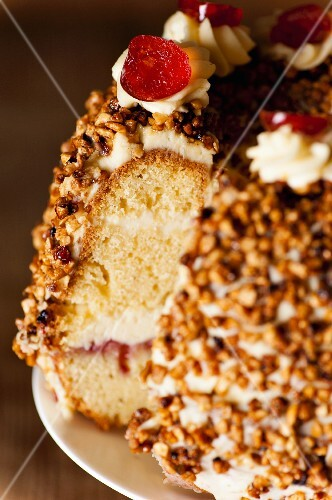 Sliced Frankfurt Crown Cake (close-up)