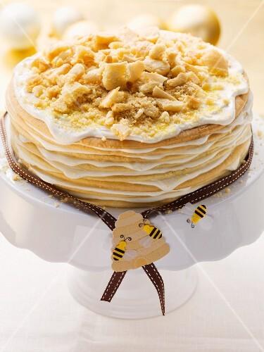A layered honey cake