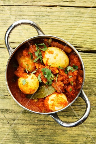 A pot of egg curry