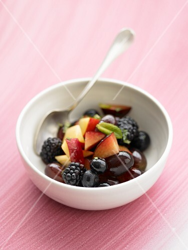 Fruit salad with berries