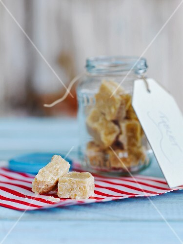 A jar of fudge
