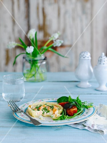 Salmon tartlet for Easter